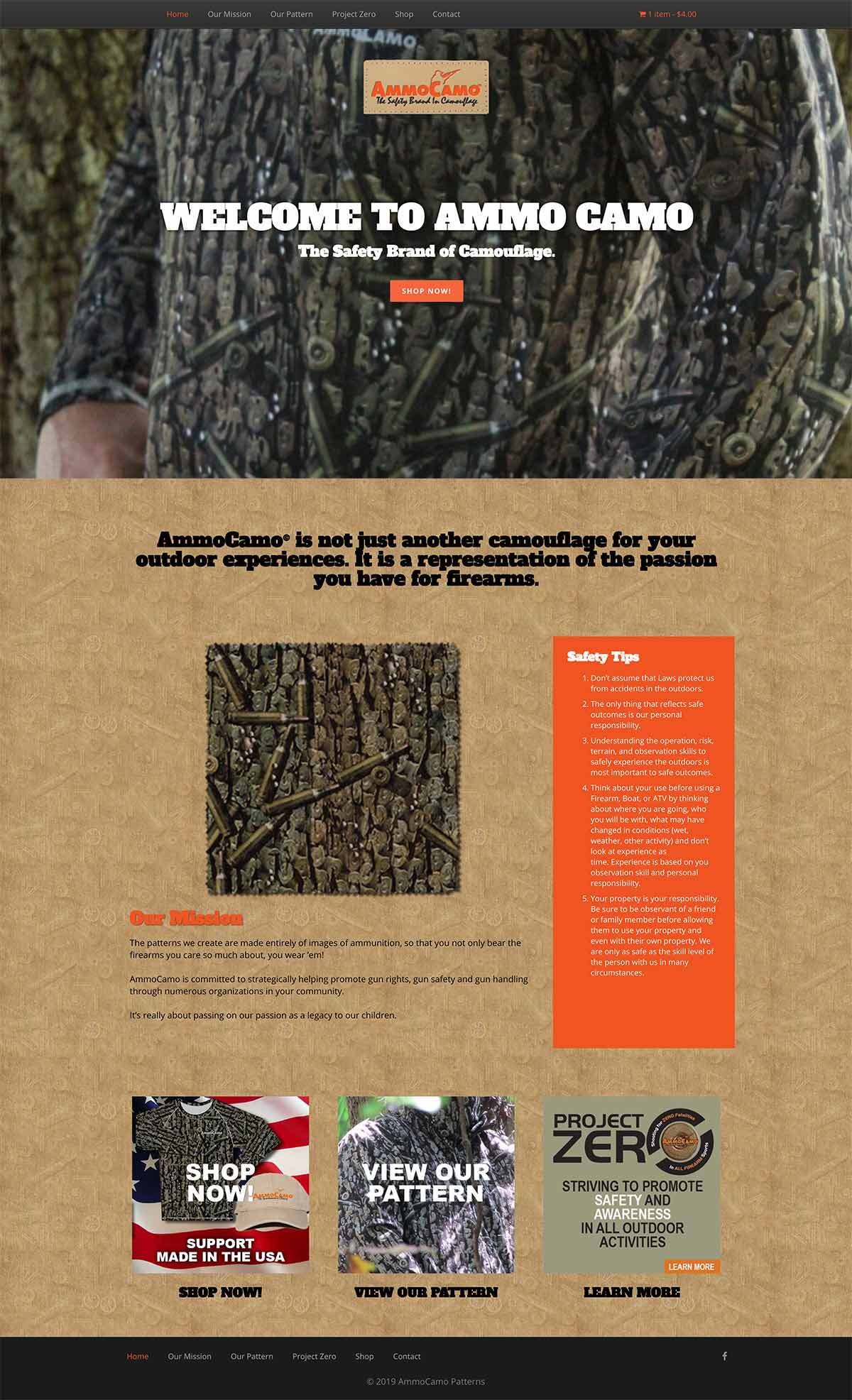 Ammo Camo Website
