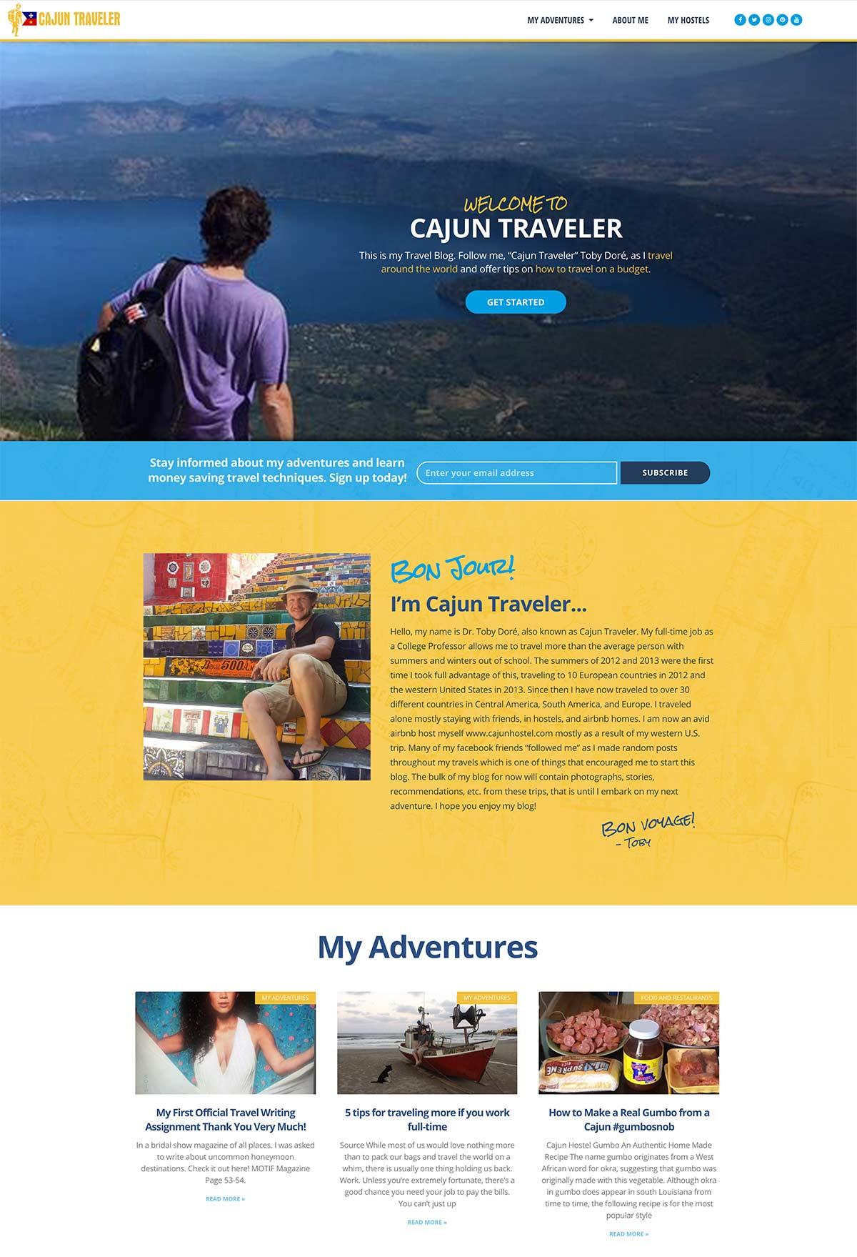 Cajun Traveler Website