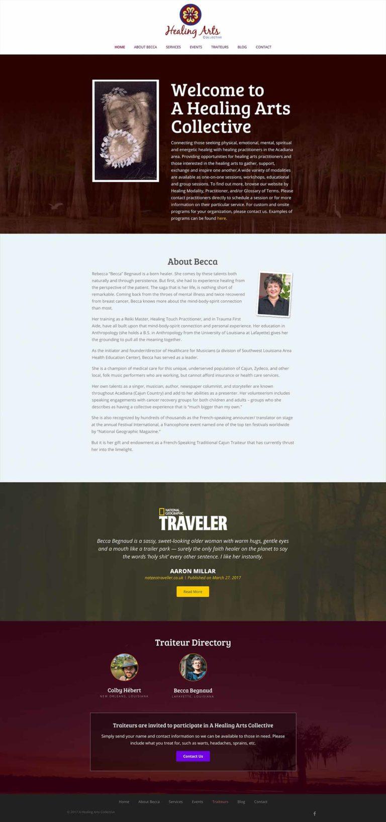 A Healing Arts Collective Website