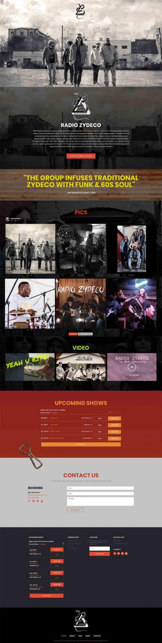 Radio Zydeco Website
