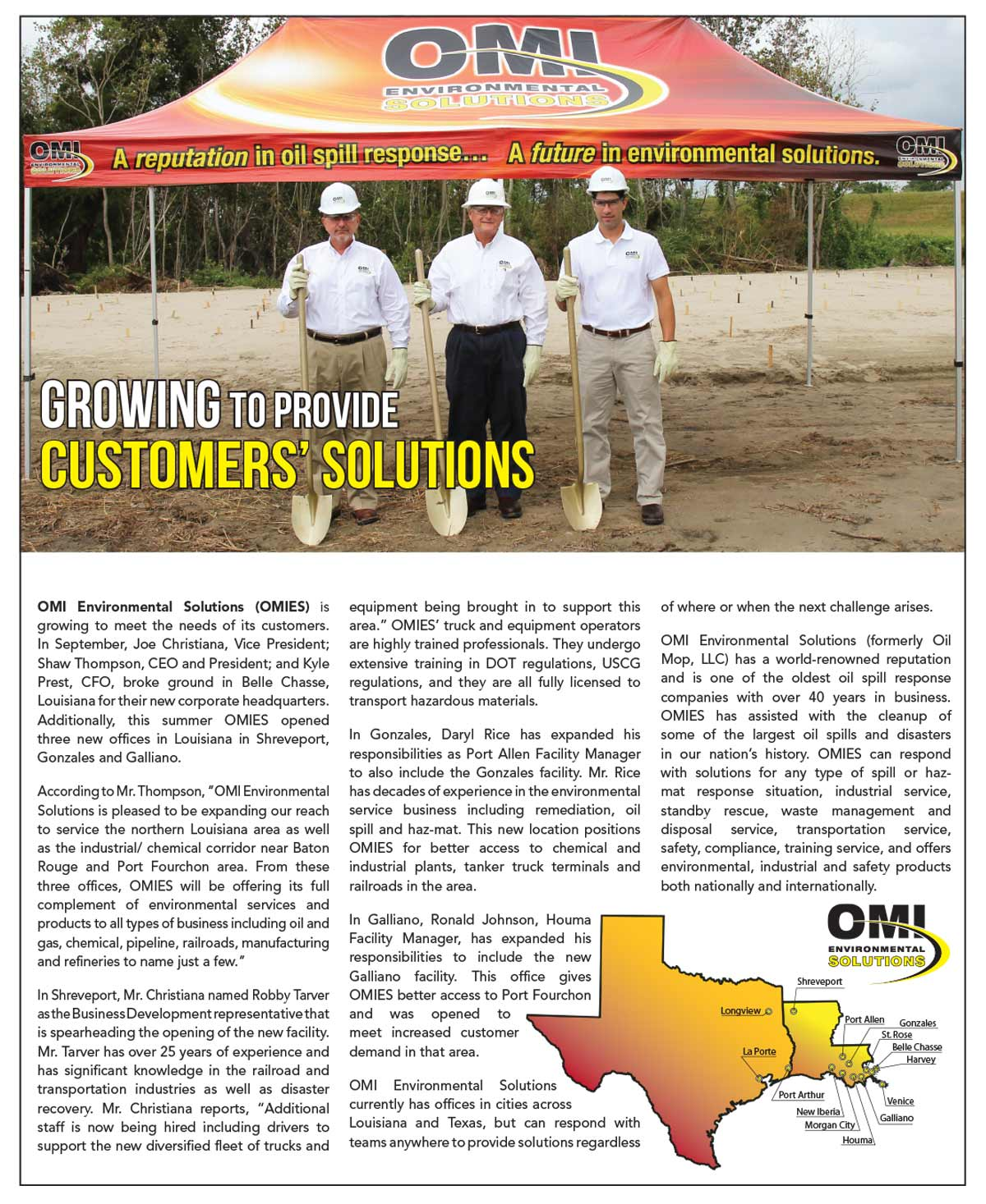 OMI Environmental Solutions Print Ad